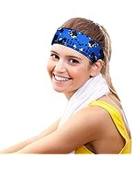 SunTop deportivas diadema, Headband, Venda - Sudadera deportiva para correr, ciclismo, yoga, baloncesto - Pelo elástico para la humedad