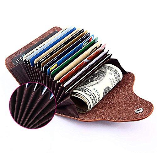 Kreditkarten-Etui, Visitenkarten-Etui, Weiches Rindsleder Kreditkartentasche, Visitenkartenhalter,...