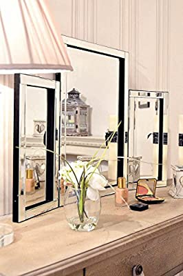 Dressing Table Mirror Modern Clear Venetian Tri-Fold Free Standing Bedroom Kelsey Stores - cheap UK dressing table store.