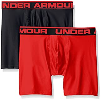 Under Armour Men's Original Series 6″ Boxerjock 2-Pack, Black/Red, XXX-Large