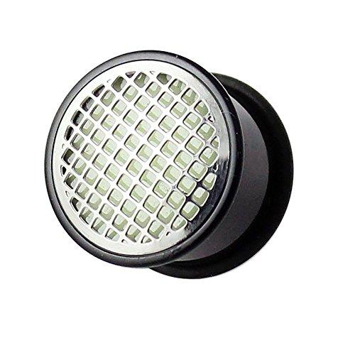 10MM Glühen In der dunklen Checker Platte schwarz UV Acryl Gauge Plug Piercing Ohr Plug Piercing