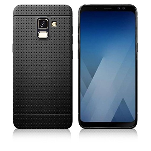 Parallel Universe Original Samsung Galaxy A8 Plus back cover case A8 + A8+ 2018 Flexible soft TPU dotted case- Black  available at amazon for Rs.199