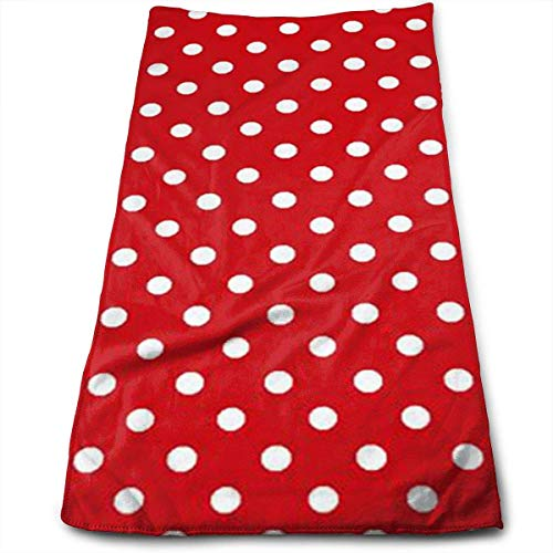 Dot Scrubs (ERCGY Red Polka Dots Polyester Towels Ultra Soft & Absorbent Bathroom Towels - Great Shower Towels, Hotel Towels & Gym Towels)