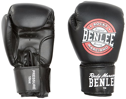 BENLEE Rocky Marciano Pressure Boxhandschuhe, Black/Red/White, 14 oz