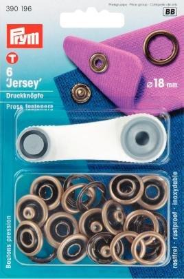 Stricken Öse Spitze (Nähfrei Jersey Ring Druckknöpfe 18 mm altmessing)