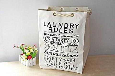 K&C pliable et bac de rangement pratique Tissu pliant Panier à linge Hamper armoire de rangement Sac poubelle pour blanchisserie Sorter