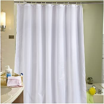 interdesign water proof mold and mildew free fabric shower curtain 180 cm x 180 cm white. Black Bedroom Furniture Sets. Home Design Ideas
