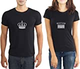 LaCrafters Mens Tshirt - King and Queen Couples Tshirt_Black_Small