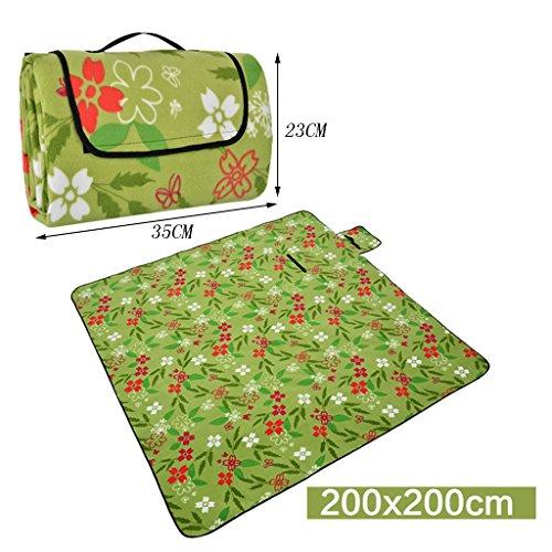 TYJ Picknick-Decken Picknick-Matten Moisture-proof Pad Outdoor Portable Wasserdichte Rasenmatten Viele Menschen ( Farbe : #2 , größe : 200*200CM )