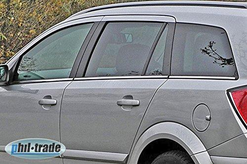 Chrom Fensterleisten Edelstahl 6-tlg SET