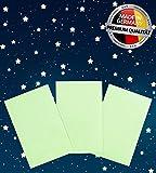 Paraboo 3x fluoreszierende Folien zum Basteln 17cm x 12cm – Leuchtfolien selbstklebend