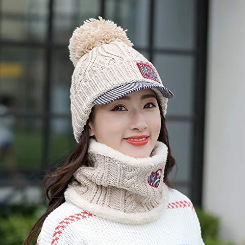 Agvbtqxzf berretto invernale antivento per cappelli invernali da donna, beige