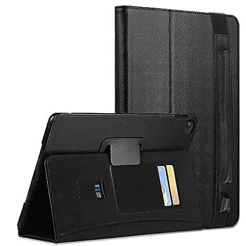 iPad Pro 12.9 Hülle , COCASES iPad Slim Smartshell Cover Case Schutzhülle Tasche mit Auto Schlaf / Wach Funktion und Apple Pencil Hülle in einem für Apple iPad Pro 12.9 Zoll mit Stifthalter (Schwarz)