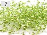 Perlengirlande 12 Stk in verschiedenen Farben für jede Deko-Kreation (7 apfelgrün)