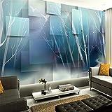 YUANLINGWEI Wandbildtapete Moderne Benutzerdefinierte 3D Foto Tapete Traum Wald Vogel Abstrakt Baumstamm Tv Sofa Hintergrund Wandhauptdekor,250Cm (H) X 330Cm (W)