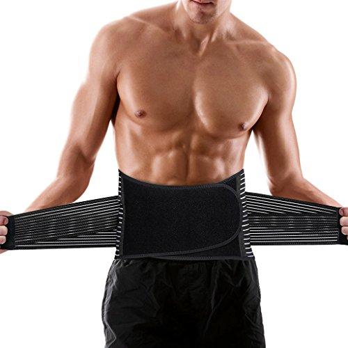 ENKEEO - Elástica Faja Lumbar Soporte Espalda Fitness