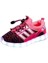LED leuchtende bunte Sneaker Turnschuhe Unisex Kinder Jungen Mädchen USB Auflade Sportschuhe leichte Schuhe 1832