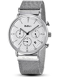 Reloj de cuarzo de pulsera de acero inoxidable para hombre d4ec7651e6ad