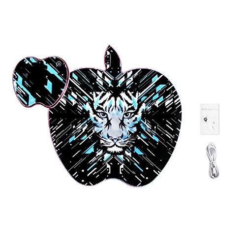 Preisvergleich Produktbild Wireless Charger Mouse Pad, Desktop Phone Mauspad-Matte,  with Colorful Flashing Lights