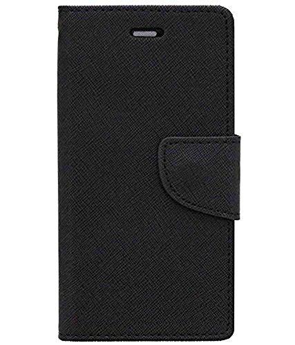 Zocardo Fancy Diary Wallet Flip Case Cover for Lava V5 - Black - Premium Cover with Inner Pocket