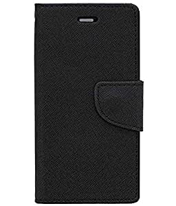 Zocardo Fancy Diary Wallet Flip Case Cover for Xolo A500 - Black - Premium Cover with Inner Pocket