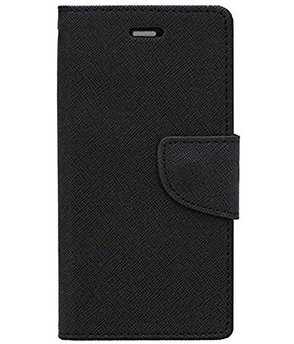 Zocardo Fancy Diary Wallet Flip Case Cover for iBall Andi 5K Sparkle - Black - Premium Cover with Inner Pocket  available at amazon for Rs.399