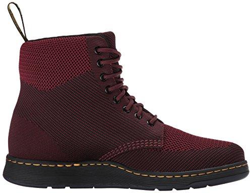 Dr.Martens Womens Rigal Knit Textile Boots Oxblood / Noir