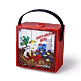 Room Copenhagen LEGO NINJAGO Brotdose mit Tragegriff, Tragbare Aufbewahrungsbox, rot