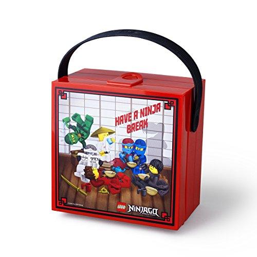 LEGO NINJAGO Brotdose mit Tragegriff, Tragbare Aufbewahrungsbox, rot