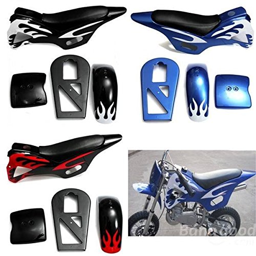 mark8shop Verkleidung Kit Sitz Flamme für 49cc Mini Moto Dirt Quad Bike ATV