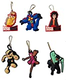 Big Hero Snap Hook Zipper Pulls 6 Pcs Set #1