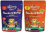 Slurrp Farm Millet Pancake Mix Combo Blueberry & Classic | No Maida, Wheat & Refined White Sugar | Sup