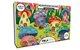 #10: Pola Puzzles Mushroom Houses Tiling Puzzles 60 Pieces For Kids Age 5 years and above Multi Color Size 36CM X 21CM Jigsaw Puzzles for Kids
