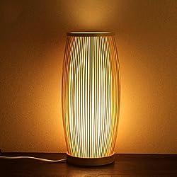 Lámpara de mesa de bambú Tejida a Mano. E27, Estilo Moderno Simple