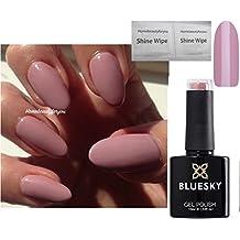 Rosa, moschus-, pastell- und hautfarbenes Nagellack-Gel, Größe A44, von Bluesky, UV-LED zum Einweichen, 10ml plus 2Politurtücher von LuvliNail