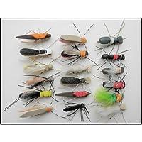 Moscas para pesca, insectos de espuma, 18 por paquete, varios colores. Tamaño 8, para pesca con mosca, moscas de espuma.