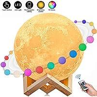 Luna Lampada Led, 3D Luna luce USB Ricaricabile 16 colori Moon Lamp Lampada led Luna Controllo e Telecomando, LED Mood Lights per Camera da Letto Illuminazione Speciale(5.91 inch)