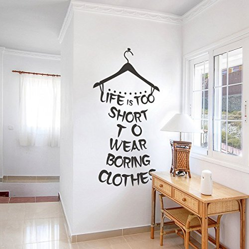 la-vida-es-demasiado-corta-para-llevar-aburrido-clothes-vestidor-citas-adhesivo-decorativo-para-pare