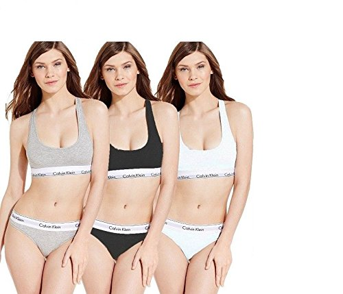 Calvin klein-- Women's Cotton Bralette and Briefs Underwear Set