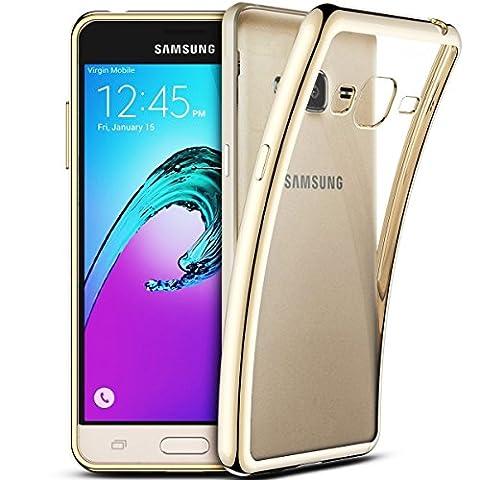 Coque Samsung Galaxy J3 2016, Coodio Chrome Placage Bumper Case
