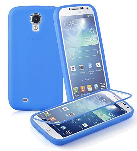 Preisvergleich Produktbild Cadorabo - TPU Silikon Schutzhülle (Full Body Rund-um-Schutz auch für Das Display) für > Samsung Galaxy S4 < in Alkali-BLAU