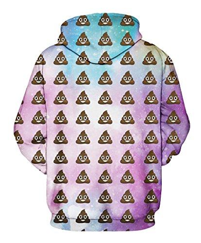 Pretty321 Women Girl Creative Emoji Full Print Fun Sweatshirt Hoodie with Pocket Amazon