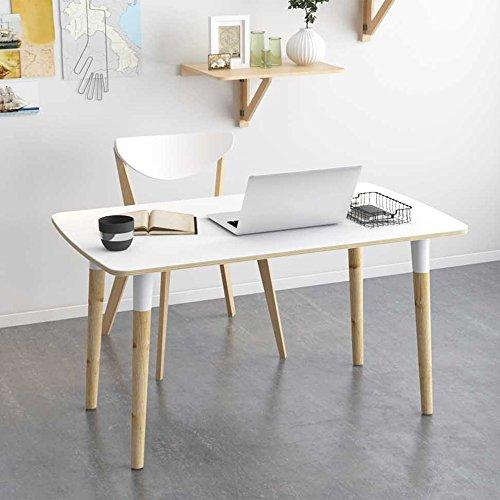 LiuJianQin Table pliante ZXQZ zhuozi Bureau d'ordinateur en Bois Massif Ordinateur de Bureau Bureau Maison Simple écriture Petit Bureau 2 Couleur en Option 120 * 60 cm Bureau Pliant (Couleur : A)