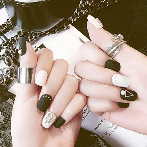 Künstliche Fingernägel, matt, matt, kurz, MS-11, 24 Stück