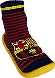 Hausschuhe rutschfest Barca–offizielle Kollektion FC BARCELONA–Größe Kinder Jungen, Jungen, blau