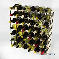 Classic pineta 42 bottiglia e zincato metallo vino rack autoassemblaggio