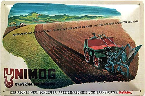 Deko7 Blechschild 30 x 20 cm Unimog Universal Motorgerät