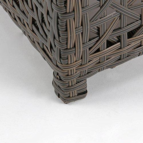 Rattan4Life 4-teilig Florenz Deluxe Polyrattan Gartenmöbel Set, Sofa / Lounge / Gartengarnitur / Kissenbezug, braun / mix / türkis - 7