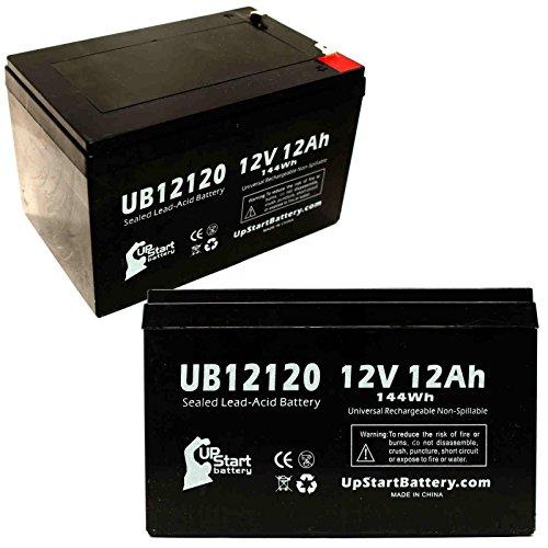 2x Pack–Ersatz Drive Medical Phoenix 4–Ersatz UB12120Universal versiegelte Blei-Säure-Batterie Akku (12V, 12Ah, 12000mAh, F1Terminal, AGM, SLA)–inkl. 4F1zu F2Terminal Adapter (Drive Medical Vier)