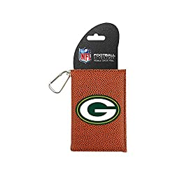NFL Green Bay Packers Classic Football ID Holder, One Size, Brown